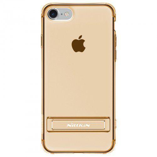 Etui Nillkin TPU Crashproof II with Holder iPhone 7 Brown, kolor brązowy