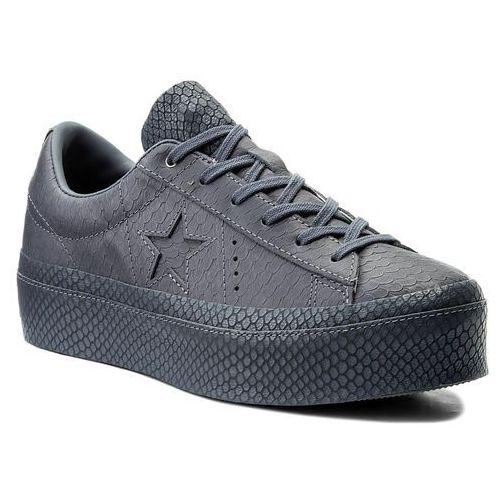 Sneakersy - one star platform ox 559901c light carbon/light carbon, Converse, 35-41