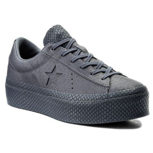 Sneakersy - one star platform ox 559901c light carbon/light carbon marki Converse