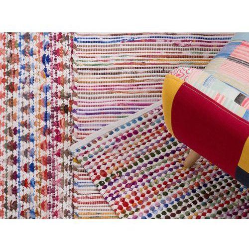 Dywan - wielokolorowy - 140x200 cm - bawełna - handmade - ARAKLI (7081459202774)