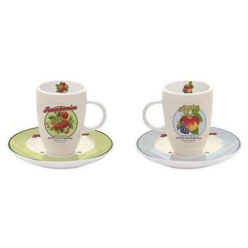 R2S - Zestaw 2 filiżanek espresso z talerzykami