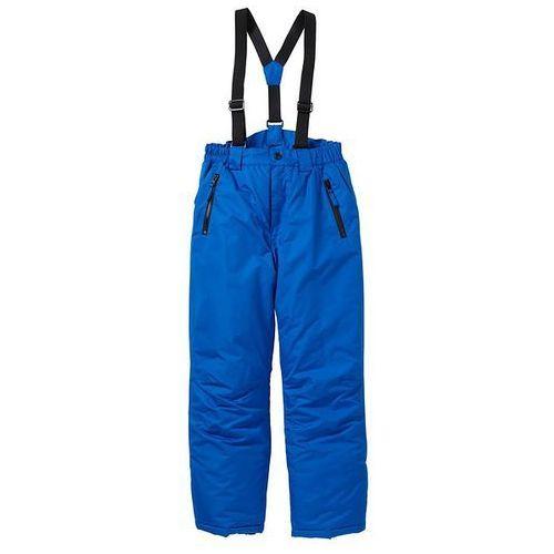 Spodnie narciarskie termoaktywne  lazurowo-czarny wyprodukowany przez Bonprix