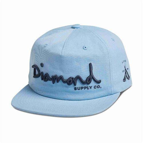czapka z daszkiem DIAMOND - Og Script Unstruct Snapba Sp18 Blue (BLU) rozmiar: OS, kolor niebieski