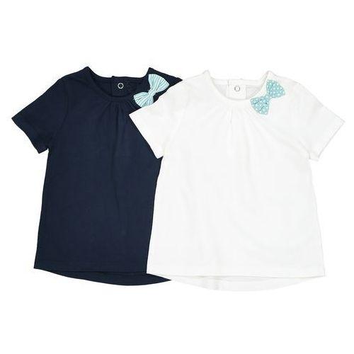 Zestaw 2 koszulek z kokardką na boku 1 miesiąc - 3 lata