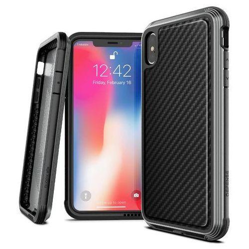 X-doria defense lux etui aluminiowe iphone xs max (black carbon) (drop test 3m) (6950941473194)