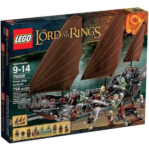 Lego LORD OF THE RINGS Zasadzka na statku pirackim 79008