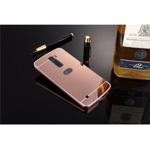 Mirror Bumper Metal Case Różowy | Etui dla LG K10 - Różowy - produkt z kategorii- Futerały i pokrowce do telefonów