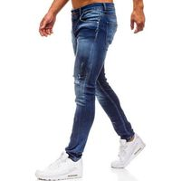 Breezy Spodnie jeansowe męskie niebieskie denley 1801