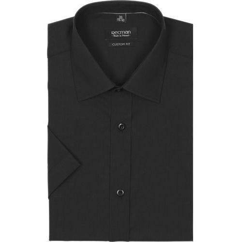 koszula versone cod4 krótki rękaw custom fit czarny, kolor czarny