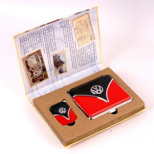 OKAZJA - Zestaw prezentowy vw zapalniczka i papierośnica 6.34 marki Polyflame