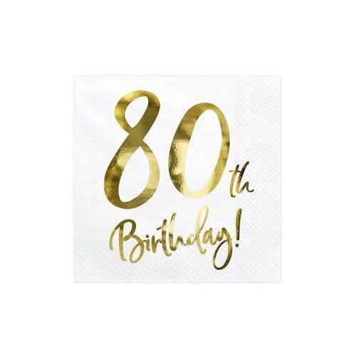 Serwetki urodzinowe na osiemdziesiąte urodziny - 80tka - 33 - 20 szt. marki Party deco