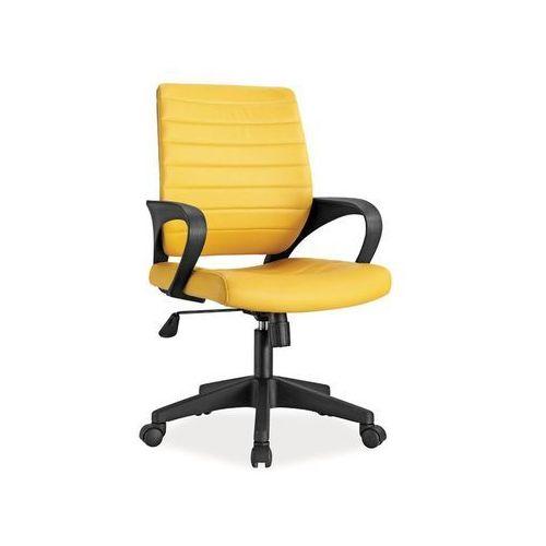 Fotel obrotowy, krzesło biurowe q-051 yellow marki Signal