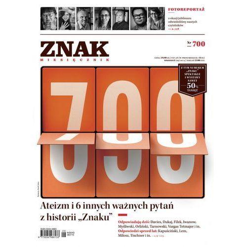 """Miesięcznik """"ZNAK"""", nr 700 - Jeśli zamówisz do 14:00, wyślemy tego samego dnia., Miesięcznik Znak"""