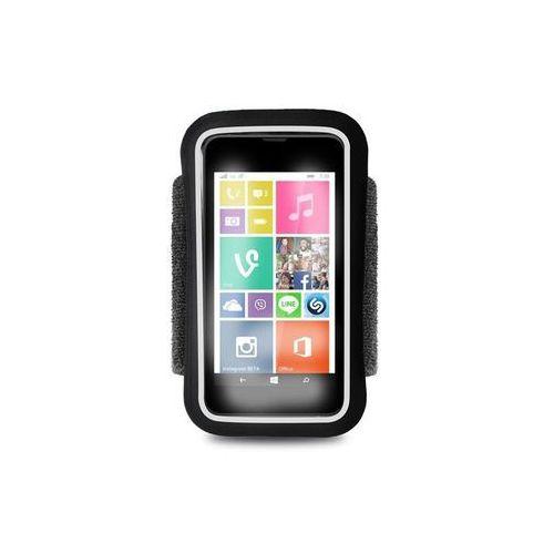 running band - uniwersalna frotka do biegania do smartfonów max 4.3 + key pocket (czarny) odbiór osobisty w ponad 40 miastach lub kurier 24h marki Puro