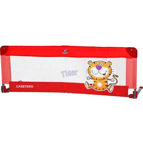 Caretero Bariera ochronna  do łóżka safari tiger czerwony + darmowy transport!