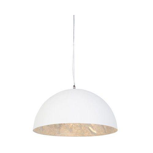 Nowoczesna okrągła lampa wisząca biała ze srebrnym środkiem 50cm - magna marki Qazqa