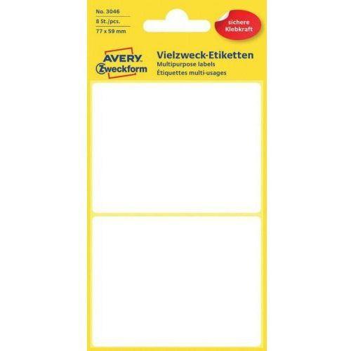Avery zweckform mini etykiety w arkuszach do opisywania ręcznego, 77 x 59mm, białe, 8 sztuk