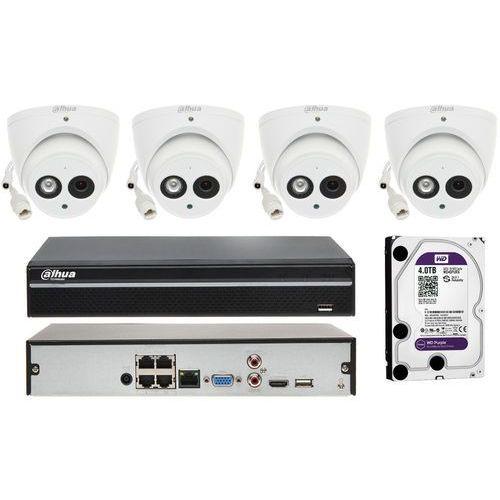 Zestaw monitoringu na 4 kamery z detekcją dźwięku i wbudowanym mikrofonem