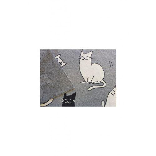 Kocyk niemowlęcy Koty 100%Bawełna 5O35EF