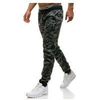J.style Spodnie męskie dresowe joggery moro-grafitowe denley kk09