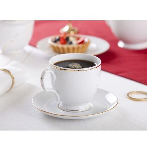 Mariapaula złota linia filiżanka cappuccino 350ml i spodek 17cm (l02) gift box marki Altom
