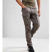 G-star tall rovic zip cargo pants 3d tapered - grey