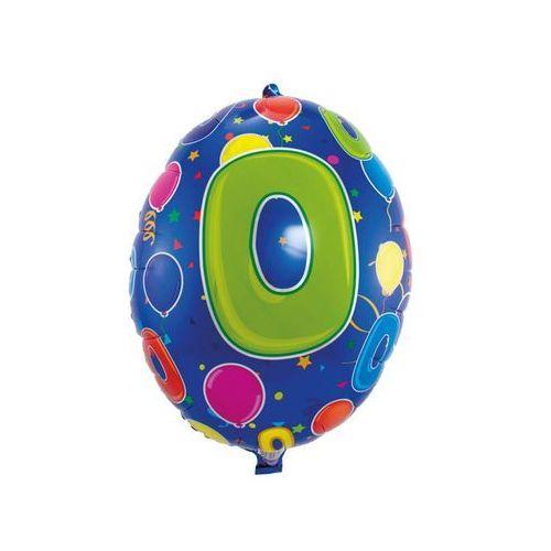 Balon foliowy cyfra 0 w baloniki - 56 cm - 1 szt. marki Folat