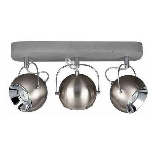 Spot light ball concrete 5131336 kinkiet lampa ścienna 3x6w gu10 szary