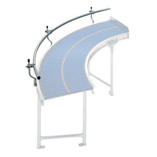 Gura fördertechnik Prowadnica boczna - lekki przenośnik rolkowy, łuk 90°, na zewnątrz. rurka stalow