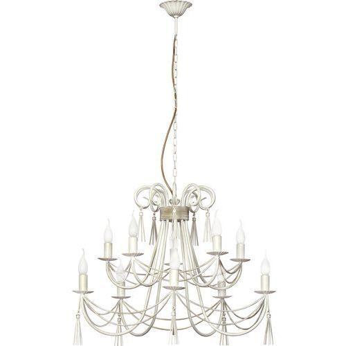Lampa wisząca Nowodvorski Twist 4985 świecznikowa zwis oprawa żyrandol 10x60W E14 biała, kolor Biały