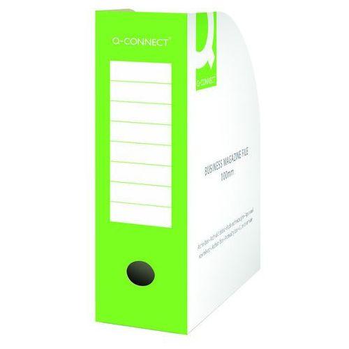 Pojemnik na dokumenty , karton, otwarte, a4/100mm, zielone marki Q-connect