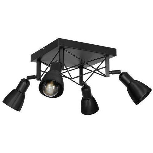 Luminex gordon 1423 plafon lampa sufitowa 4x60w e27 czarny (5907565914238)