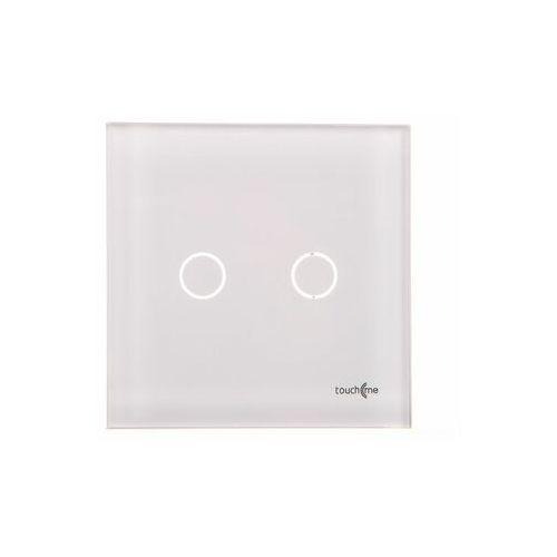 Touchme duży panel szklany, łącznik podwójny, biały tm702w marki Els elektrotechnika sp. z o.o. sp. k.