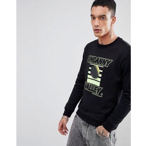 Weekday steve uncanny valley sweatshirt - black