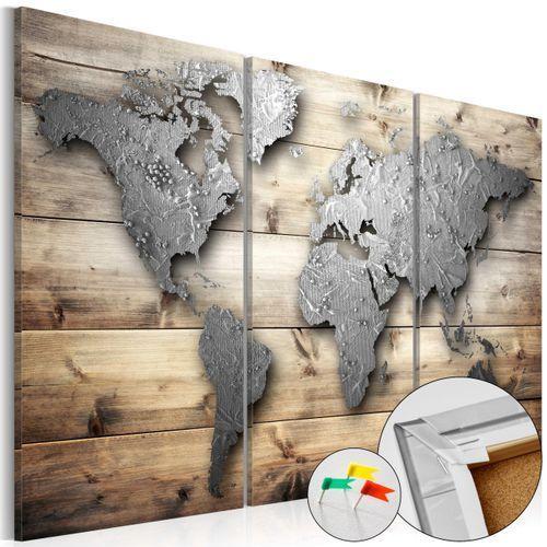 Tablica korkowa obraz mapa świata - Drzwi do świata 90 szer. 60 wys.