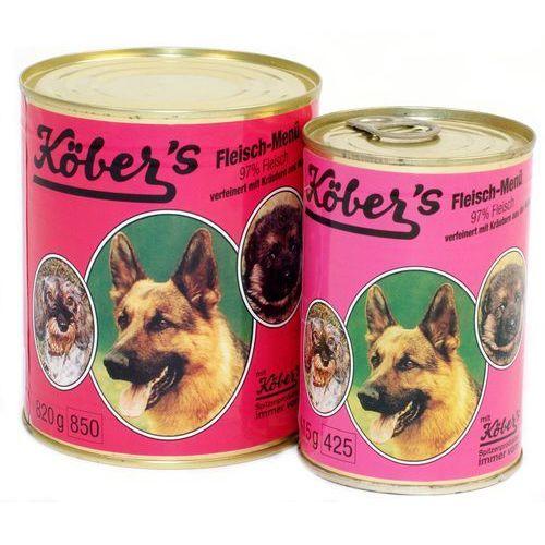 Koebers fleisch menu - wołowina i cielęcina dla psa: waga - 400 g dostawa 24h gratis od 99zł (4001714304008)