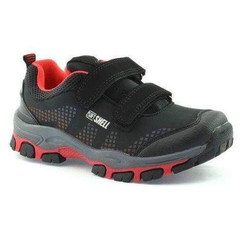 Dziecięce buty sportowe American Club WT1779 - Czerwony ||Czarny, kolor czerwony