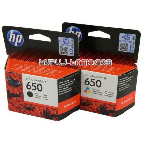 Hp  650 black + kolor oryginalne tusze do hp deskjet ink advantage 2515, hp deskjet ink advantage 1515, hp deskjet ink advantage 3545 (0886112545901)
