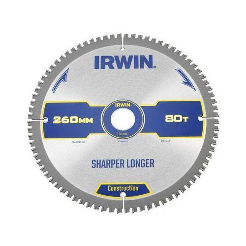Irwin construction Tarcza do pilarki tarczowej 260mm/80t m/30 śr. 260 mm 80 z (5706918974338)
