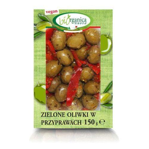 Biorganica nuova (włoskie przekąski) Zielone oliwki w przyprawach bio 150 g - biorganica nuova (8029689009335)