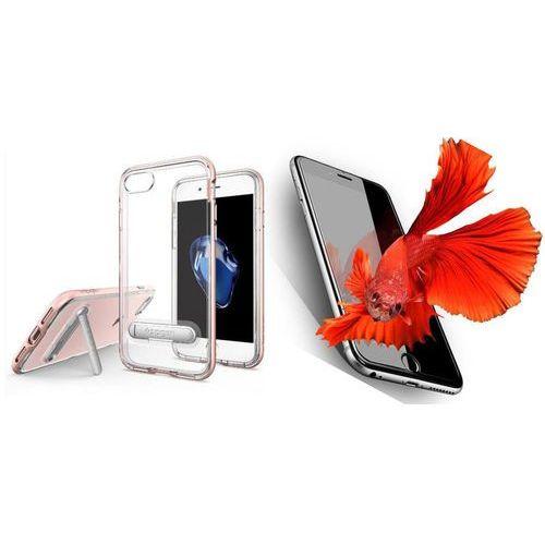 Zestaw | Spigen SGP Crystal Hybrid Rose Gold | Obudowa + Szkło ochronne Perfect Glass dla modelu Apple iPhone 7