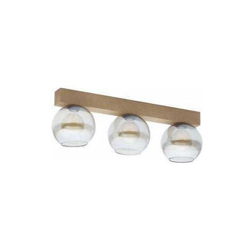 Tklighting Tk lighting artwood glass 4256 plafon lampa sufitowa 3x60w e27 sosna/grafit