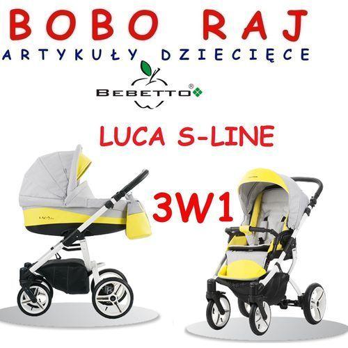 Wózek głęboko spacerowy firmy  model luca s-line fotelik maxi cosi pebble marki Bebetto