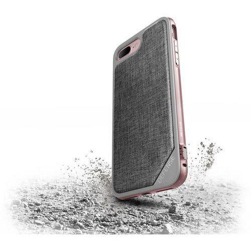 X-doria  defense lux - aluminiowe etui iphone 7 plus (rose gold/grey) (6950941449694)