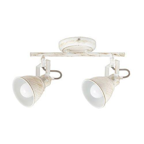 Listwa lampa sufitowa spot Rabalux Vivienne 2x40W E14 antyczna biel 5967, 5967