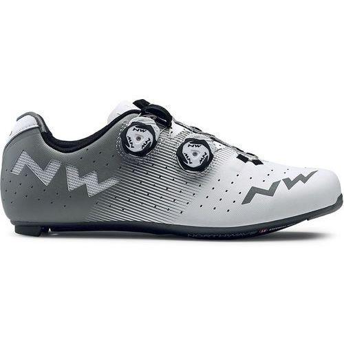 Northwave revolution buty mężczyźni szary/biały 47 2018 buty szosowe zatrzaskowe