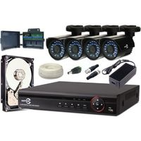 ZESTAW MONITORINGU HD-CVI 4 KAMERY 720P + REJESTRATOR +1TB