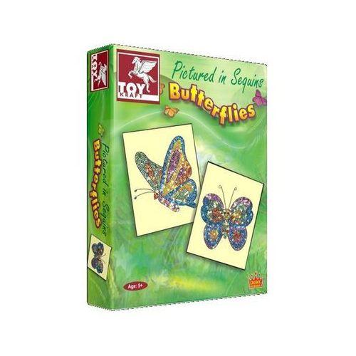 Toy kraft Motyle zdobione cekinami (8906022395808)