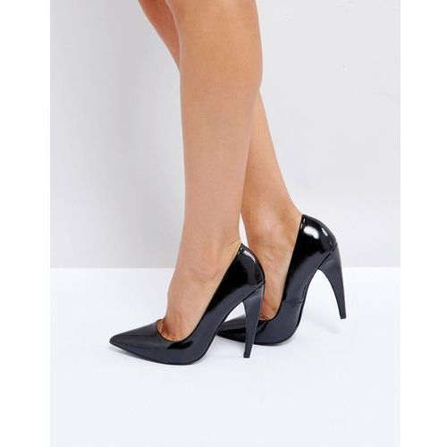Asos prosecco pointed high heels - black
