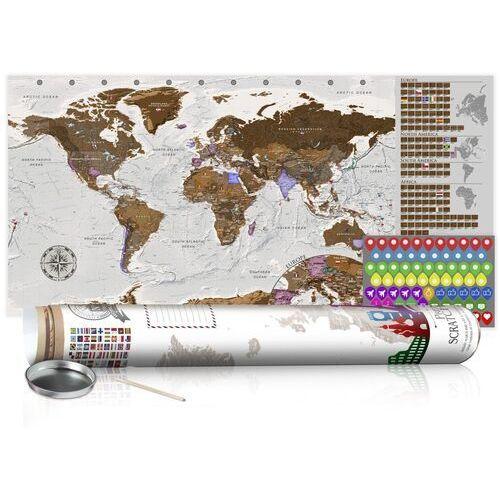 Mapa zdrapka - szara mapa - plakat (wersja angielska) marki Artgeist